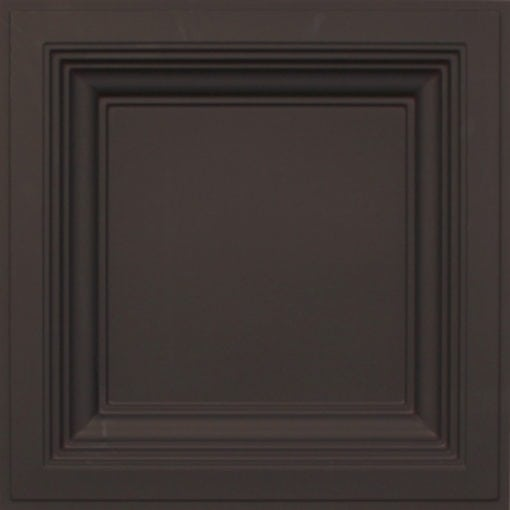 274  Faux Tin Ceiling Tile - Coffered - Black Matte