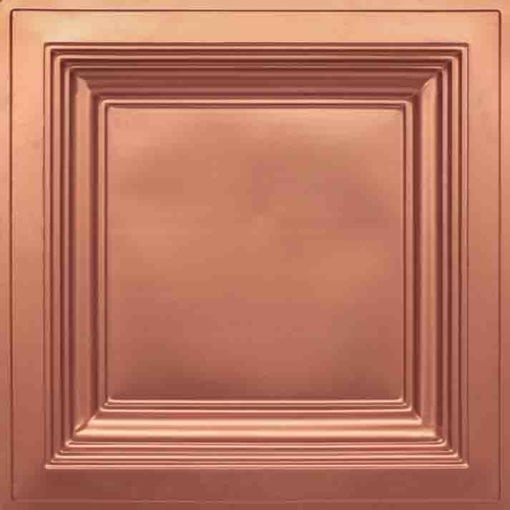 274  Faux Tin Ceiling Tile - Coffered - Copper