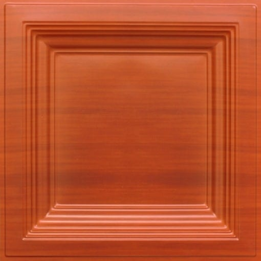 274  Faux Tin Ceiling Tile - Coffered - Dark Cherry