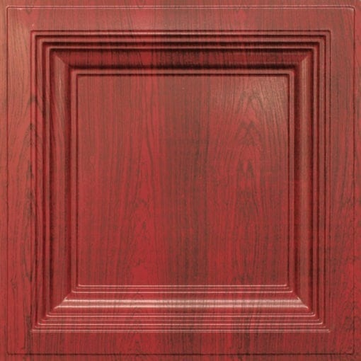 274  Faux Tin Ceiling Tile - Coffered - Rosewood