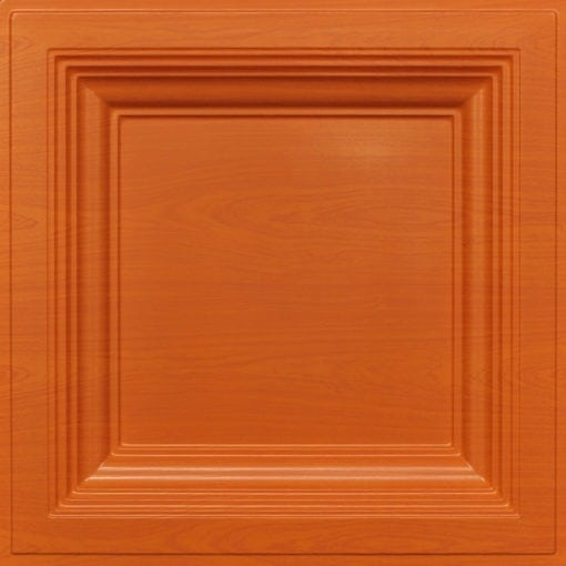 274  Faux Tin Ceiling Tile - Coffered - Teakwood