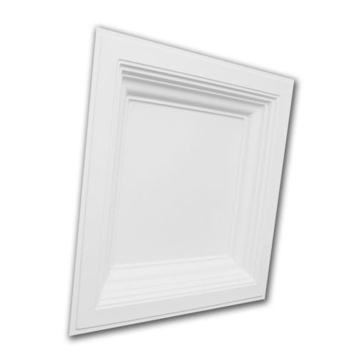 274  Faux Tin Ceiling Tile - Coffered - White Matte