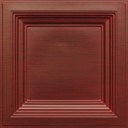 274  Faux Tin Ceiling Tile - Coffered - Woodland Brown