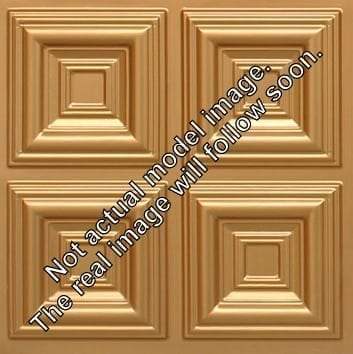 274  Faux Tin Ceiling Tile - Coffered - Gold