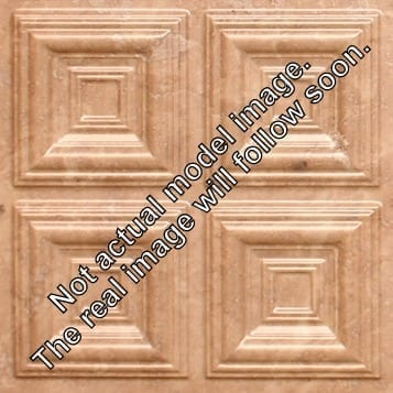 274  Faux Tin Ceiling Tile - Coffered - Venetian Brown