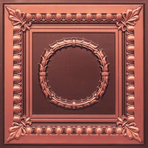 275 Faux Tin Ceiling Tile - Antique Copper