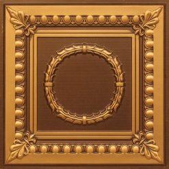 275 Faux Tin Ceiling Tile - Antique Gold