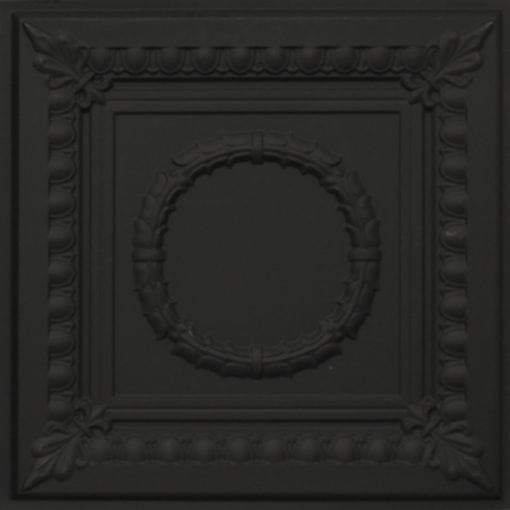 275 Faux Tin Ceiling Tile - Black Matte