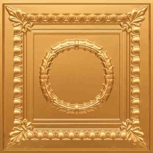275 Faux Tin Ceiling Tile - Gold