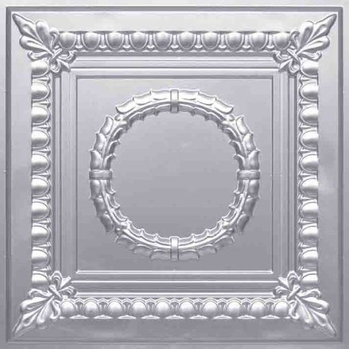 275 Faux Tin Ceiling Tile - Silver