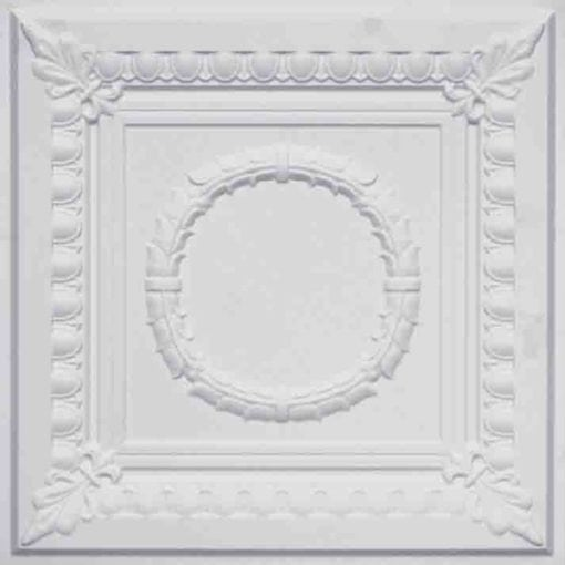 275 Faux Tin Ceiling Tile - White Matte