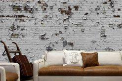 MU1562 - Peeling Paint Brick Wall