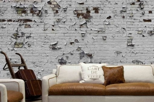 MU1562 - Peeling Paint Brick Wall