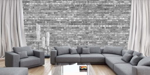 MU1449 - Old Brick Wall  - Black and White
