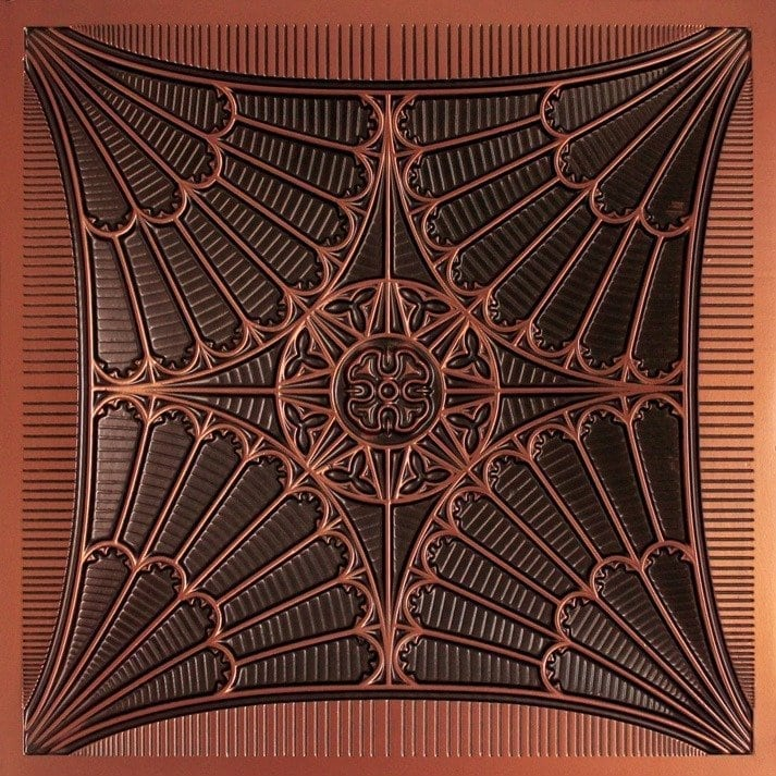254 Faux Tin Ceiling Tile - Antique Copper