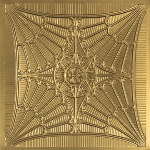 254 Faux Tin Ceiling Tile - Brass