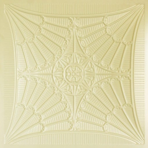 254 Faux Tin Ceiling Tile - Cream Pearl