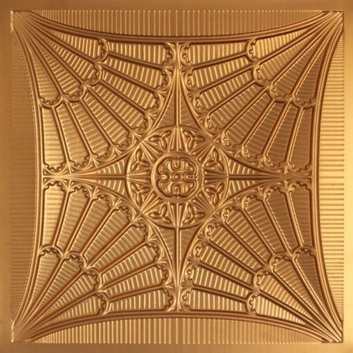 254 Faux Tin Ceiling Tile - Gold