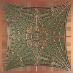 254 Faux Tin Ceiling Tile - Patina Copper