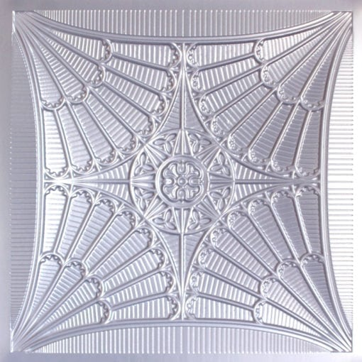 254 Faux Tin Ceiling Tile - Silver