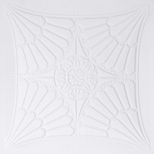 254 Faux Tin Ceiling Tile - White Matte