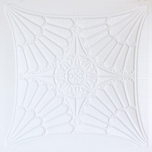 254 Faux Tin Ceiling Tile - White Pearl