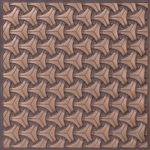 283 Faux Tin Ceiling Tile - Antique Copper