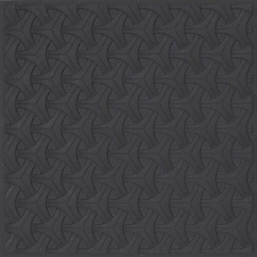 283 Faux Tin Ceiling Tile - Black Matte