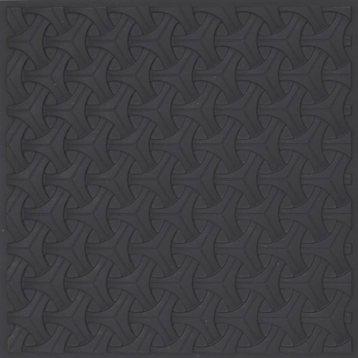 283 Faux Tin Ceiling Tile Black Matte
