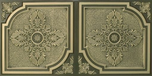 8280 Faux Tin Ceiling Tile - Antique Brass