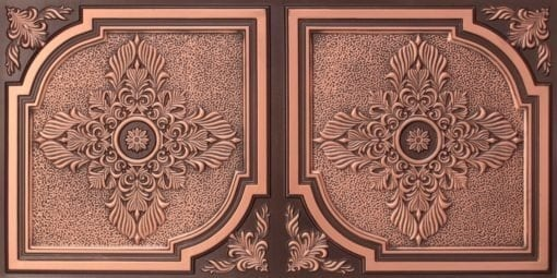 8280 Faux Tin Ceiling Tile - Antique Copper