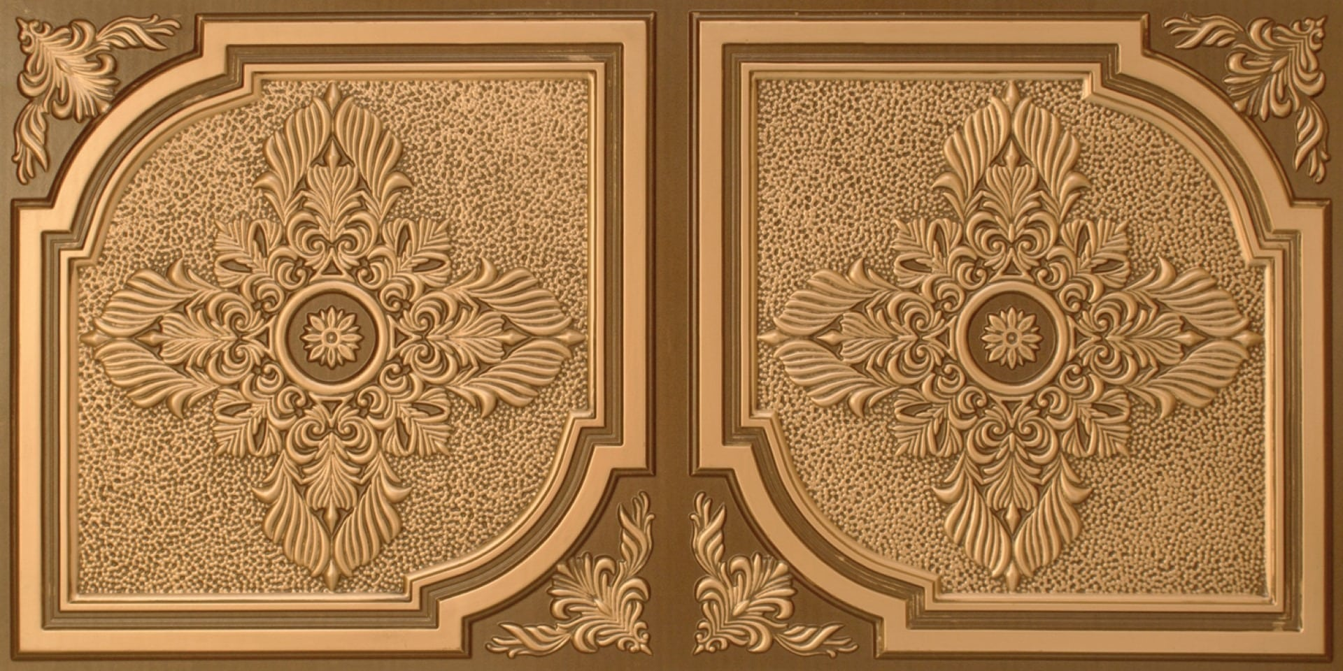 8280 Faux Tin Ceiling Tile - Antique Gold