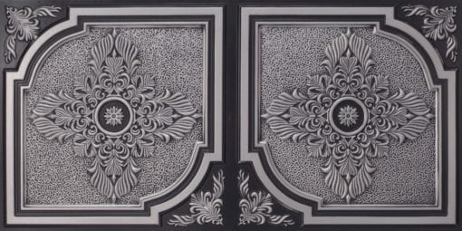 8280 Faux Tin Ceiling Tile - Antique Silver