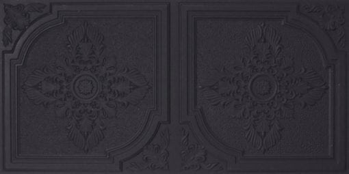 8280 Faux Tin Ceiling Tile - Black Matte