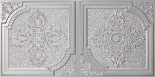 8280 Faux Tin Ceiling Tile - Silver