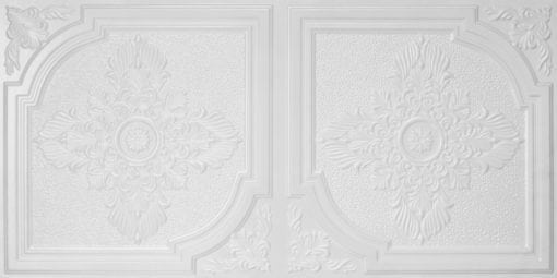 8280 Faux Tin Ceiling Tile - White Pearl