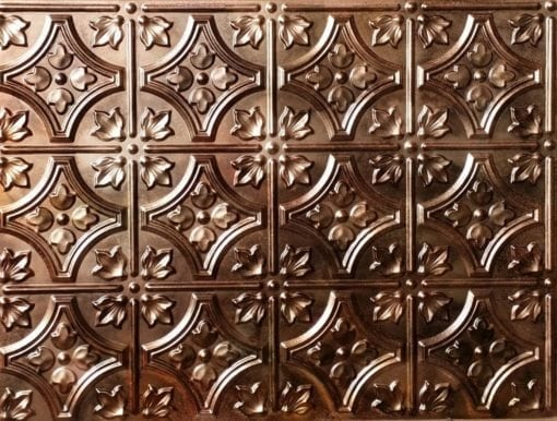 BP10 Faux Tin PVC Panel - Spackled Copper