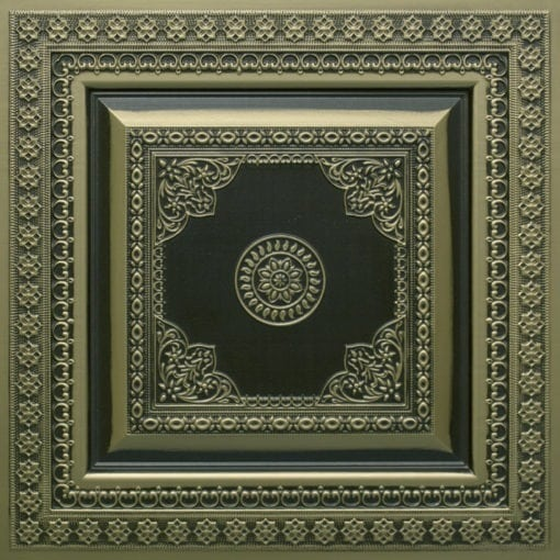 282 Faux Tin Ceiling Tile - Antique Brass