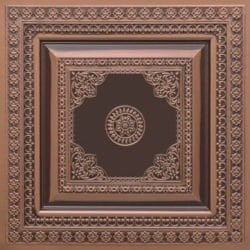 282 Faux Tin Ceiling Tile - Antique Copper