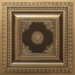 282 Faux Tin Ceiling Tile - Antique Gold
