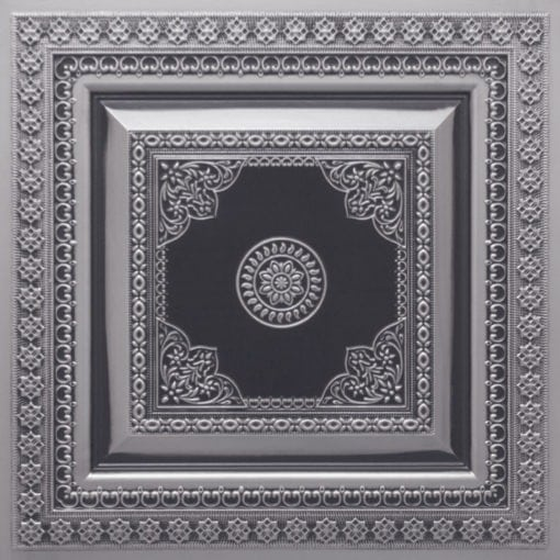 282 Faux Tin Ceiling Tile - Antique Silver