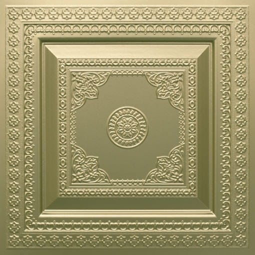 282 Faux Tin Ceiling Tile - Brass