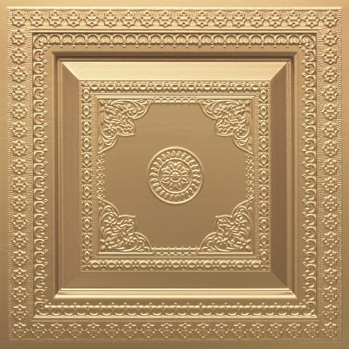 282 Faux Tin Ceiling Tile - Gold