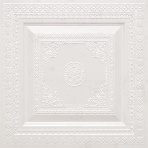 282 Faux Tin Ceiling Tile - White Pearl