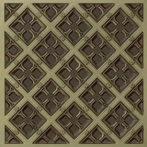 279 Faux Tin Ceiling Tile - Antique Brass