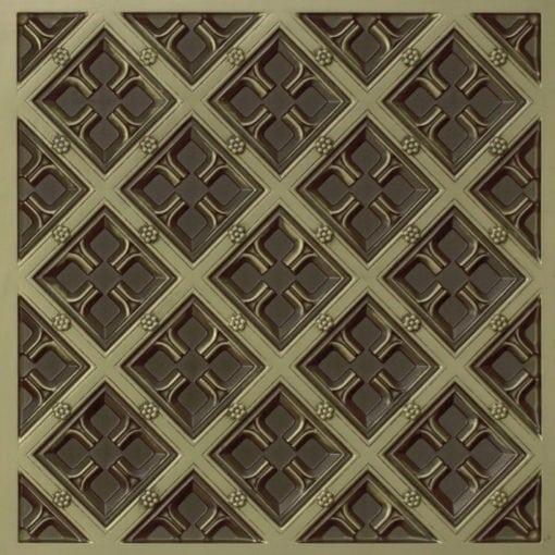 279 Faux Tin Ceiling Tile - Antique Brass
