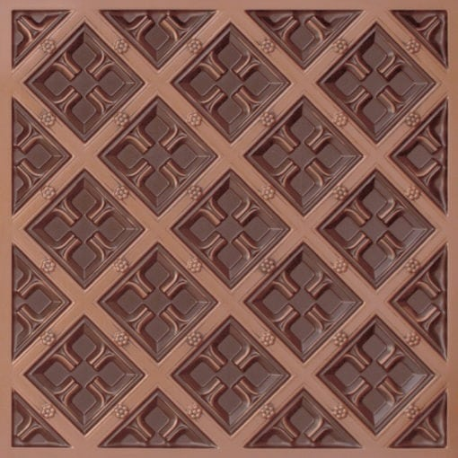 279 Faux Tin Ceiling Tile - Antique Copper