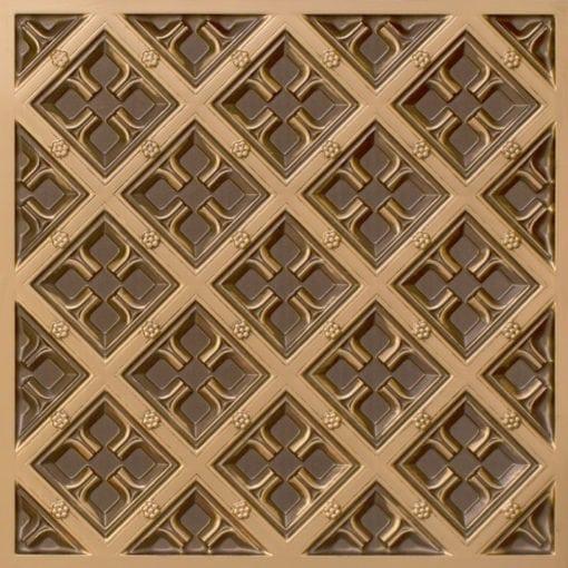 279 Faux Tin Ceiling Tile - Antique Gold