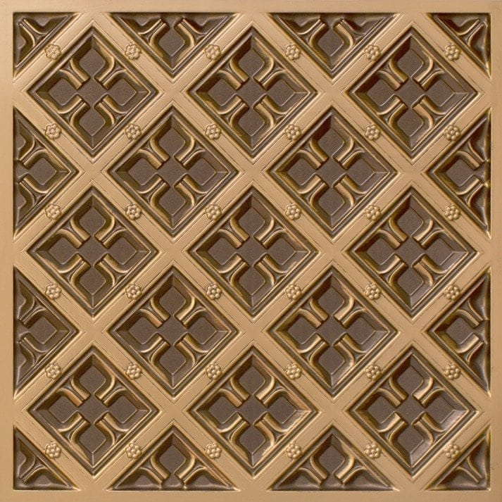 279 Faux Tin Ceiling Tile - Antique Gold