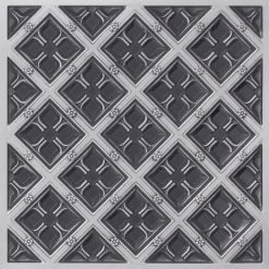 279 Faux Tin Ceiling Tile - Antique Silver